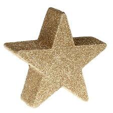 Weihnachts-Deko Stern gold klein Tischdeko Adventsdeko glitzer Sterndekoration