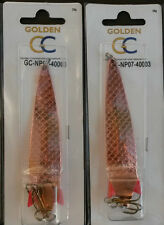 2x28g TOBY TOBIX Type Salmon Pike Lure Spinners Copper NP07-40003x2