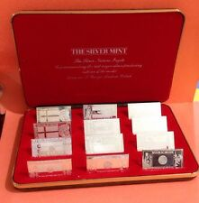 THE SILVER MINT THE SILVER NATIONS INGOTS SET OF 12 .999 SILVER BARS 240 Grams