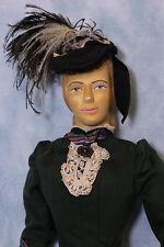 "18"" carved wood art doll ""Caroline 1889"" Helen Bullard signed 1967 Niada artist"