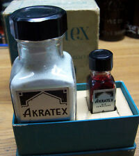 Vtg Dentistry Akratex Whip-Mix Corp Louisville Ky Die Material Box/Bottles #E26