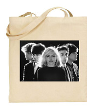 Shopper Tote Bag Cotton Canvas Cool Icon Stars Blondie Band Ideal Gift Present