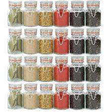 24x sigillo Clip Top Barattoli per spezie erbe essiccate Semi Condimento vasi contenitori da cucina