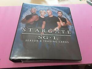 STARGATE SEASON 8 TRADING CARDS, BINDER WITH BASE CARDS SET. RARE