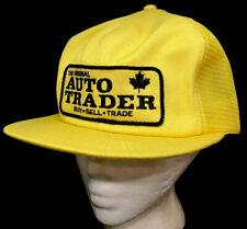 Vtg Auto Trader Mesh Trucker Hat SnapBack Big Patch K Brand Cap Magazine Logo