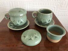 Due favolose cinese tazze da tè con integrato tè COLINI e coperchi-CICOGNA Design