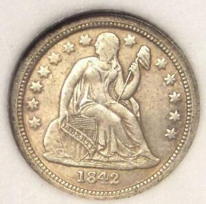 1842-O Seated Liberty Dime 10C - Nice AU Details - Rare Date!