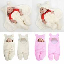 Newborn Baby Swaddle Sleeping Bag Infant Knitted Crochet Soft Warm Blanket Wrap