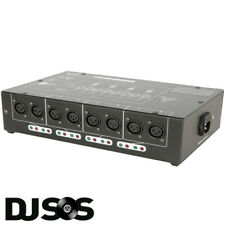 QTX DMX-D8 8 WAY DMX BOOSTER / DISTRIBUTOR 1 INPUT, LOOP, 8 OUTPUTS LIGHTING FX