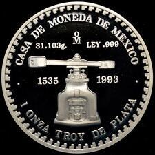 1993 Mexico 1 oz Silver Medal, Piedra de los Soles Proof