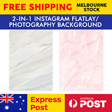 Instagram Photography Flatlay Backdrop Background Design - White & Pink Marble