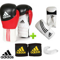 New! adidas Kids Training Boxing Gloves Set! Includes Hand Wraps & Mouthguard