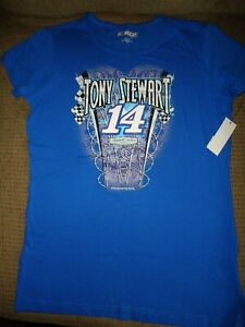 TONY STEWART NASCAR FOR HER SHORT SLEEVE T-SHIRT SIZE MEDIUM  NEW WITH TAGS