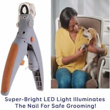 Pet Nail Clipper Dog Cat Toe Care Cutter Claw Paw Trimmer Tool with LED Light AU