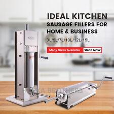 Hakka 7lbs To 32lbs Sausage Stuffer 2 Speed Stainless Steel Meat Filler Machine