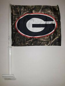 Georgia Bulldogs Camo Car Flag ( set of two )