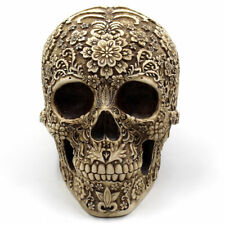 Human Skull Statue Decor Skeleton Figurine Halloween Party Decoration Sculpture