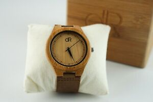 BAMBOO TAN LEATHER BAND WATCH   OVERSTOCK 80% OFF