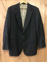 PAUL STUART Black 2 Button Wool Mens Blazer Sport Coat Jacket - Sz 44 Long
