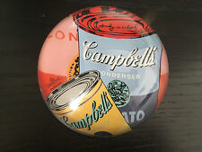 Rosenthal Andy Warhol Campbell's Soup Glass Paperweight Tomato Studio Line