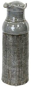 Large Ceramic Vase Tall Grey Mosaic Textured Alpine Floor Standing Ornament 44cm