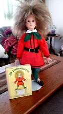 "Collectible 24"" Porcelain German Struwwelpeter (Shockheaded Peter) Doll w/Book"