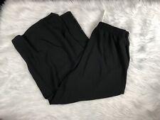 NWT ASOS Women's Sz 6 Black Stretch Trousers Pants Cropped Wide Leg Office