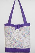 Quality Sewing Craft Kit - Patchwork Quilted Tote Bag Lilac