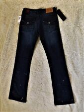 NWT Blac Label PINK dark wash embellished womens jeans size 28 X 34 Retail $75