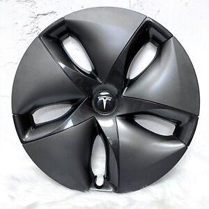 "Tesla Model 3 19"" Aero Wheel Cover Hubcap Plastic Black Grey Cap 2017-2020"