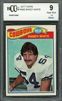 1977 topps #342 RANDY WHITE dallas cowboys BGS BCCG 9
