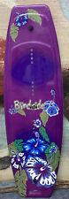 BLINDSIDE Hawaiian Flower Purple 125cm WAKEBOARD WAKE BOARD  W Fins