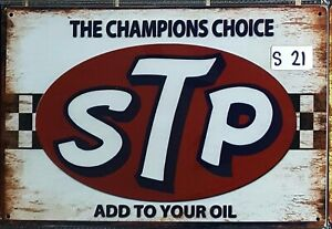STP Motor Oil The Champions Choice tin sign garage man cave shed au seller