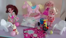 Barbie lot colección sweetsville Kelly, Shellys, heartfamiliy Rocking Horse...