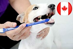 Duke's Pet Products Two-piece Dog Toothbrush Set: Double Sided Canine Dental Hyg