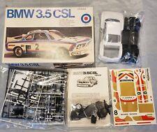 1976 Entex BMW Hermetite 3.5 CSL Model Kit - Partially Assembled - 1/20 #9305