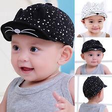 Toddler Kids Baby Boy Girls Baseball Cap Unisex Cat Ear Snapback Summer Hat Gift