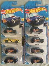 Lot Of 7 Morris Mini and 1 Corvette Grand Sport Roadster Hotwheels Mattel