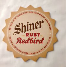 3 Different Specialty Shiner Beer Coaster Pads Redbird, Prickly Pear, Odd Bird