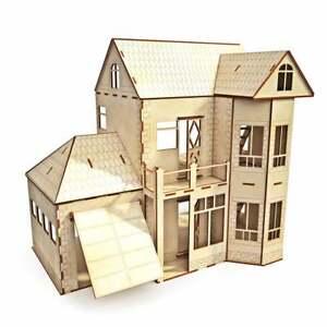 Victorian Wooden Dollhouse 1:16 Great Details + Garage Kids Gift Home Decro