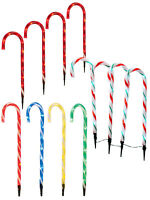 4 Light Up Candy Cane 52 or 62cm Garden Path Stake Outdoor Christmas Decoration