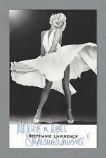 "Stephanie Lawrence (Signed) ""MARILYN"" (Monroe) the Musical 1983 London Postcard"