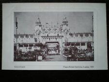 POSTCARD LONDON FRANCO-BRITISH EXHIBITION  1908 -FOUNTAIN