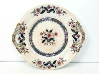 Antique Oriental Stone Ware Floral Design Large Platter