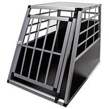 Hunde Transportbox groß Kennel Alu MDF Käfig 1 große Tür Reise Hundebox