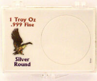 Silver Round (1 Troy Oz .999 Fine), 2X3 Snap Lock Coin Holders, 3 pack