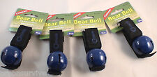 4 PK BEAR BELL BLUE-INCLUDES SILENCER REPELS MANY UNWANTED PREDITORS KEEP SAFE
