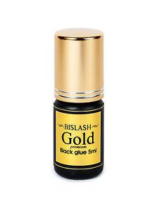 (350,73€/100ml) Wimpernkleber BISLASH Gold Black Glue 5ml