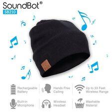 Smart Beanie Hat SoundBot Hd Stereo Bluetooth Wireless with Mic Headset Sports