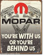 Vintage Replica Tin Metal Sign Mopar Dodge Challenger Barra Cuda motor hemi 2015